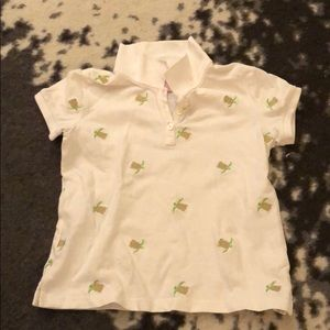 Lilly Pulitzer embroidered turtle polo tshirt